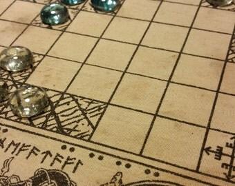 Viking board games Tafl (Hnefatafl) and Nine Man Morris