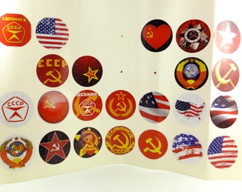Clock Dial Decals Sticker for vintage  Slava and Drujba clocks Soviet USA  Motives