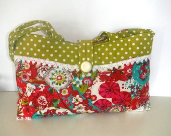 Shoulder bag tote bags floral dots cotton