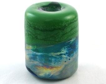 Landscape Focal Handmade Glass Lampwork Bead