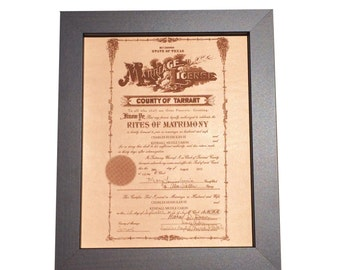 Leather Photo, laser engraved wedding certificate, leather anniversary, 3rd anniversary, leather photograph, marriage certificate engraved