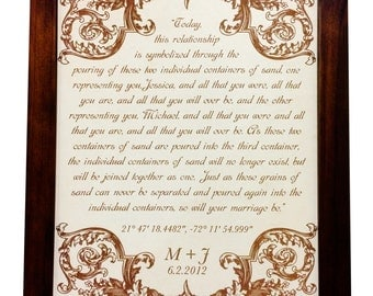 Leather Anniversary Gift - Wedding Vows - 3rd anniversary Gift - Personalized art