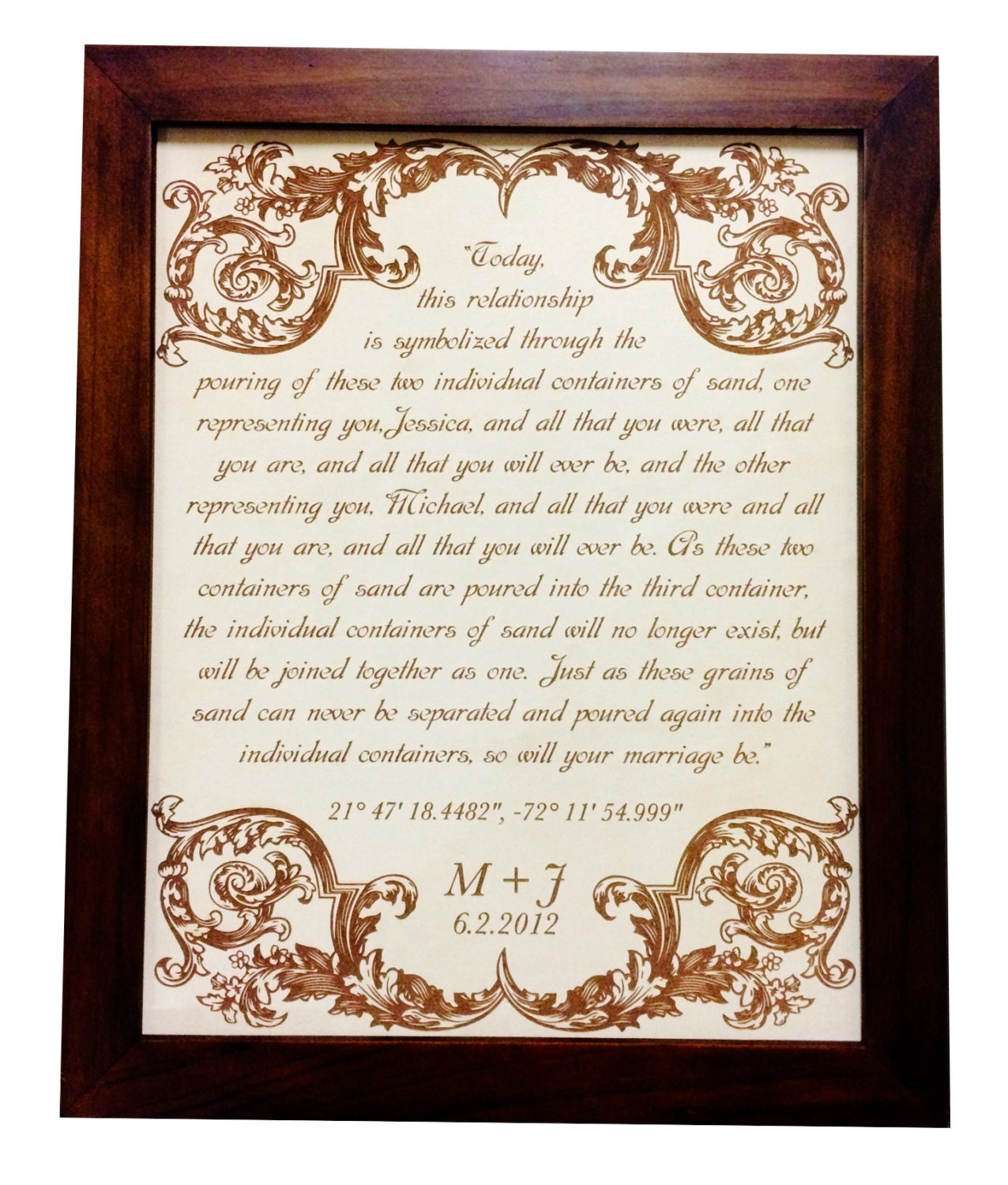 3rd Wedding Anniversary Traditional Gift: Leather Anniversary Gift Wedding Vows 3rd Anniversary Gift
