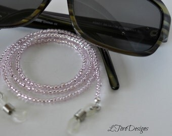 Pink Eyeglass Chain, Glasses Chain, Sunglasses Chain, Lanyard, Glasses Holder, Glasses Necklace, Accessories, Women's Glasses Chain,