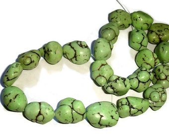 composite turquoise apple green nugget beads for jewelry making large nugget beadds nugget gemstones abstract beads for jewelry making chunk