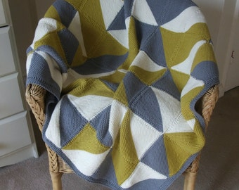 Knitting Pattern for Moderne Blanket