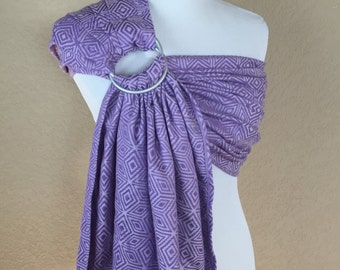Bibetts 'Lavender Cube' Wrap Conversion Ring Sling Baby Carrier
