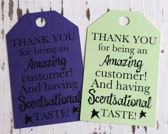 Thank you tag - Scentsy - Customer Thank you