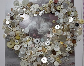 Vintage buttons lot of 250 various sizes cream tones