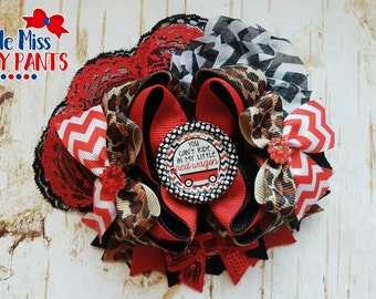 Little red wagon boutique hairbow