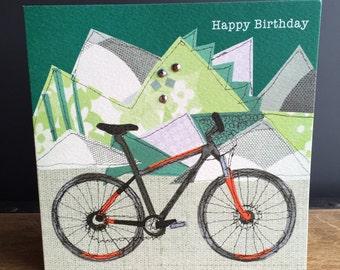 Bike-Greeting Card- handfinished