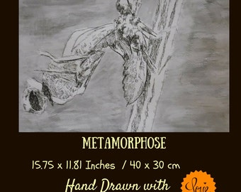 Handmade Art: Metamorphosis, dragonfly decor,  dragonfly art,  dragonfly wall art, dragonfly wall decor