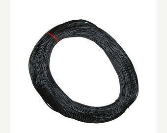 On Sale NOW 25%OFF One Meter (40 inches) 5mm Genuine Greek Leather Cord Black