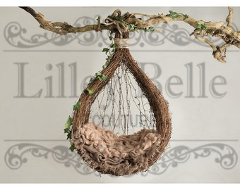 Digital prop/backdrop (Brown Ivy Hanging Vine Pod)