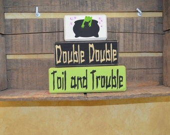 Double Double Toil and Trouble 3 Piece Stacking Block Set