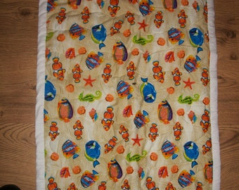 Portable quilted baby changing mat
