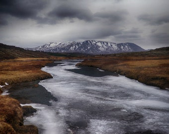 Icy Stream | Iceland | Home Decor | Wall Art | Fine Art Photography | Print | Matted