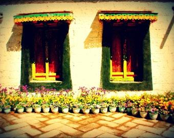 Tibetan Windows | Tibet | Home Decor | Wall Art | Fine Art Photography | Print | Matted