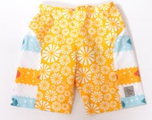REDUCED Sunshine and Submarines Chapsters Size 12months  Board Shorts organic cotton