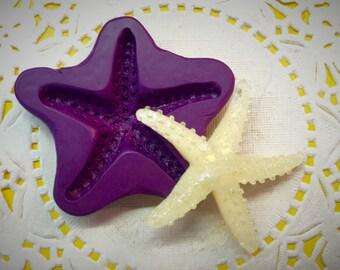 Ocean Starfish Mold 42mm Flexible Silicone Baking or Resin Mold - Food Grade
