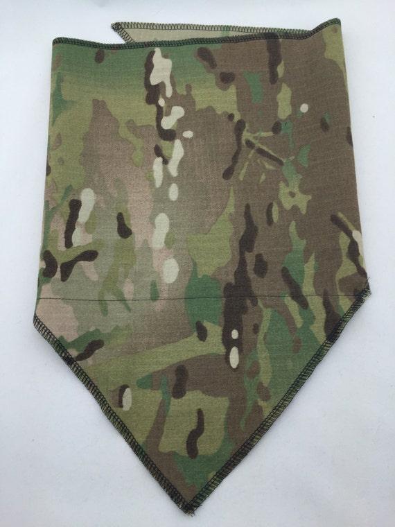 Military grade rip-stop classic camouflage Bandana w/ stash pocket