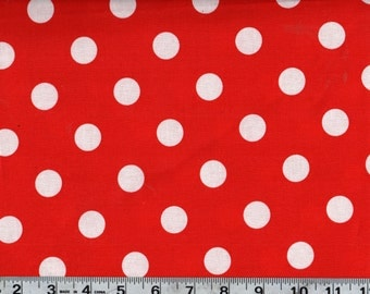 Big Dot Red Polka Dot Sewing Quilting Fabric by the Yard #400-3