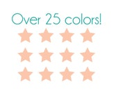 Mini Star Nail Decals - Vinyl, Custom Color Choice