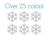Snowflakes Nail Decals (Thick) - Vinyl, Custom Choice of Color