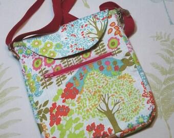 Small crossbody handbag, shoulder strap, dog walking, school run, travelling showerproof bag