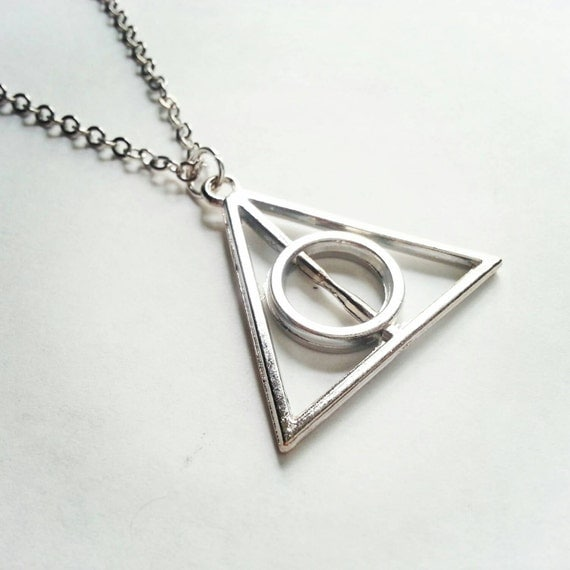 Deathly Hallows Necklace, Harry Potter Inspired, Harry Potter Necklace, Large Deathly Hallows, Fandom Necklace