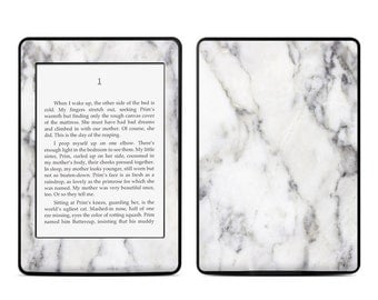 Amazon Kindle Skin - White Marble - Sticker Decal - Fits Paperwhite, Fire, Voyage, Touch, Oasis