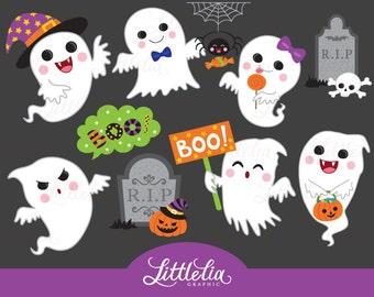 Cute ghost - ghost clipart - halloween clipart - 16060