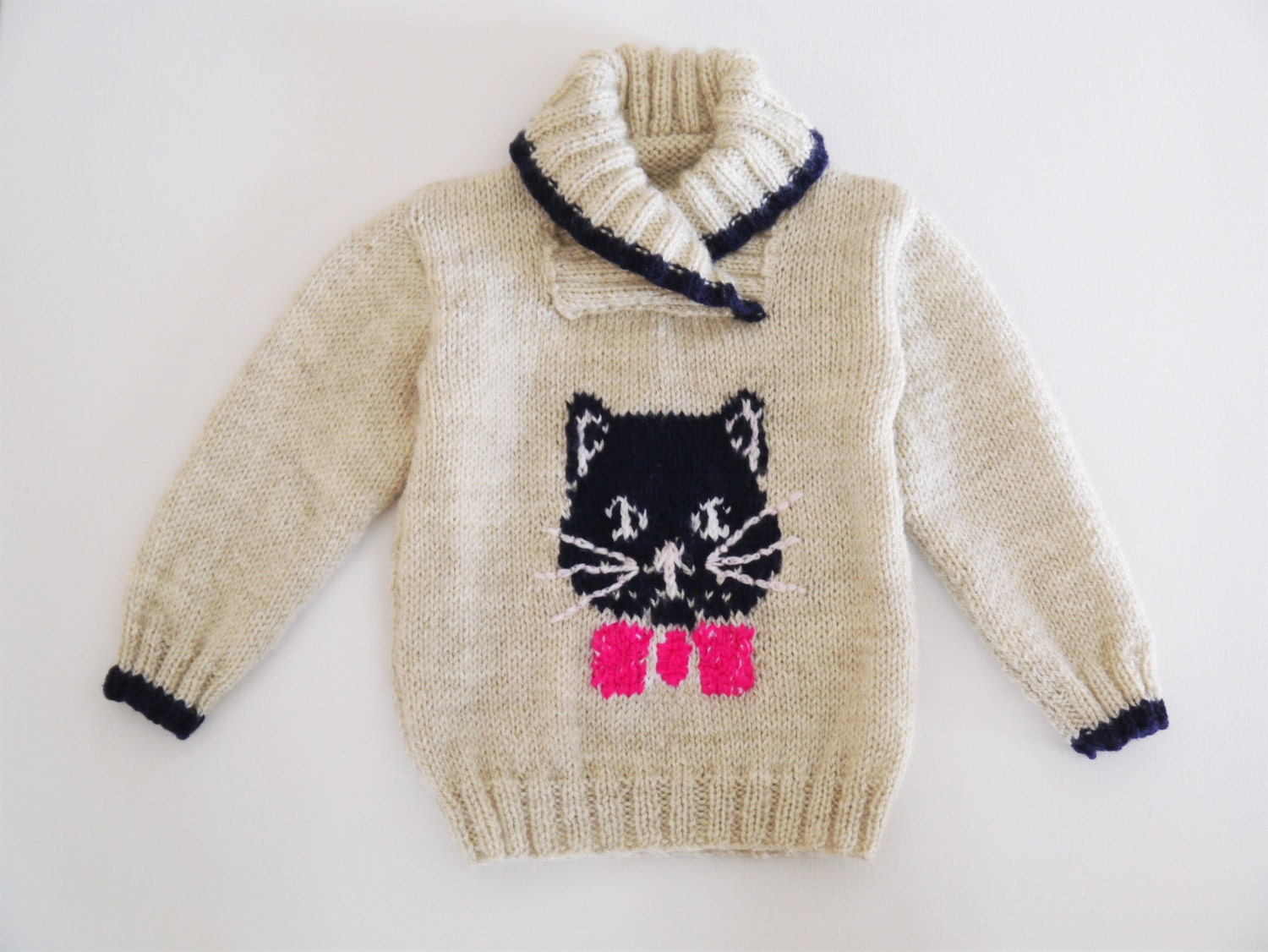 Knitting Pattern Cat Sweater : Jumper with cat and mice Knitting Pattern Sweater Knitting