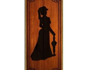 Ladies Wood Plaque Sign