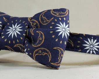 Cat Collar or Kitten Collar with Bow Tie or Flower - Celestial