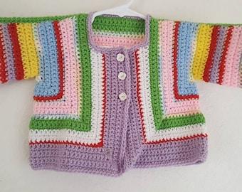 Handknitted Vintage Baby Sweater