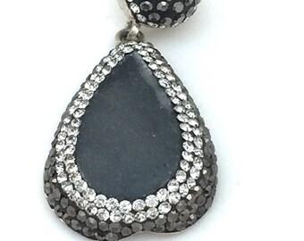 Deep Gray Druzy Pendant