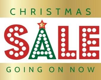 Christmas Sale Vinyl Banner