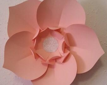 Paper Flower - Light Pink Wall Flower