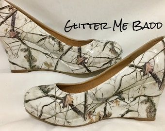 Snow Camo Glossy Heels