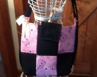 Pink and black western   2 in 1 Bag