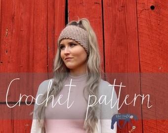 CROCHET PATTERN ear warmer, ear warmer, modern crochet pattern, indie crochet pattern, beginner crochet pattern, DIY pattern, crafty gift