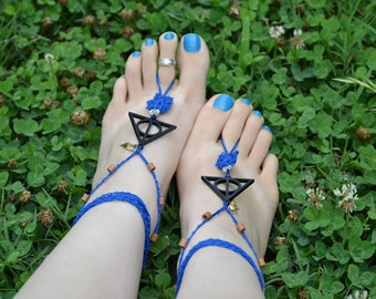 Harry Potter Deathly Hallows Barefoot Sandals ~ Ravenclaw