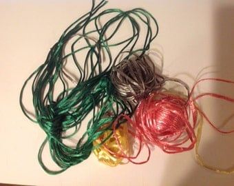 lot of shiny strings and ribbons