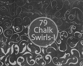 Chalk Swirls - I