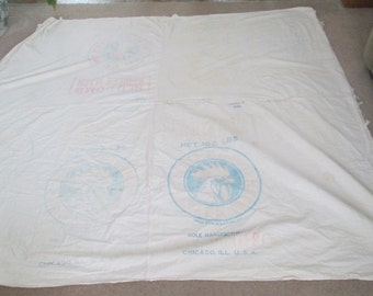 Vintage Feed Sack Blanket