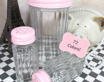 Salt & Pepper Shakers with Sugar Dispenser Set in Candy Pink