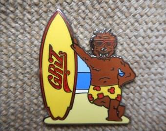 "Rare ""Griz Surfer"" Pin FREE SHIPPING"