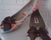 cupcake shoes, afternoon tea, vintage tea party, wedding evening shoes, comfy shoes, flat shoes, ballet pumps