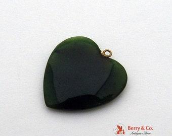 SaLe! sALe! Carved Jade Nephrite Heart Pendant